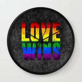 Love Wins Art Wall Clock
