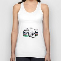 camera Tank Tops featuring Camera by Mariam Tronchoni