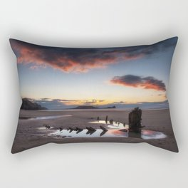 The wreck of the Helvetia and Worms Head Rectangular Pillow