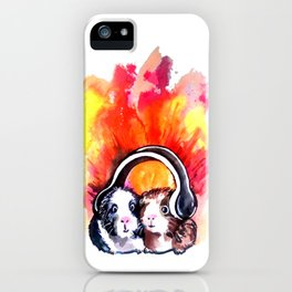 Guinea Pigs Music iPhone Case