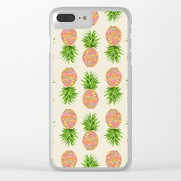 Pineapple or Pot Clear iPhone Case