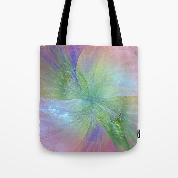 Mystic Warmth Abstract Fractal Tote Bag