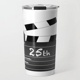 25th Year Clapperboard Travel Mug