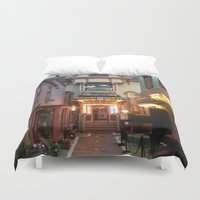 maine Duvet Covers featuring Maine by Christina Hand