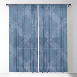 Blue on blue II Sheer Curtain