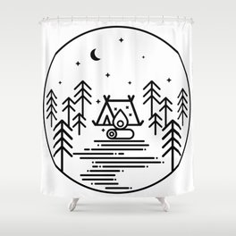 Camping in the Great Outdoors / Geometric / Nature / Camping Shirt / Outdoorsy Shower Curtain
