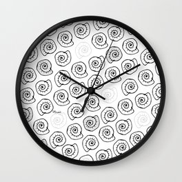 Seashells - pop parttern Wall Clock
