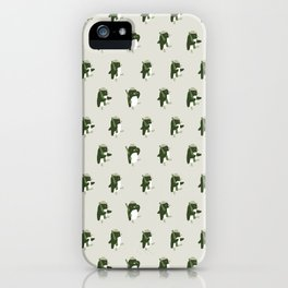 March of the Penguins pattern iPhone Case