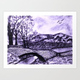 Sketching The Countryside Art Print