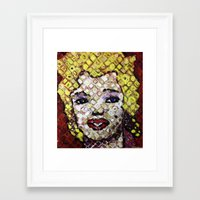 marylin monroe Framed Art Prints featuring MARYLIN MONROE by JANUARY FROST