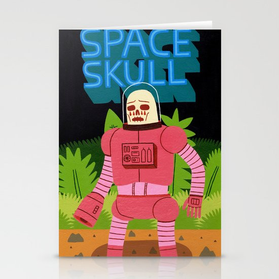 Space Skull Stationery Cards