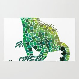 Iguana Of Spades Rug