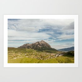 Tiny Mountain Town Art Print