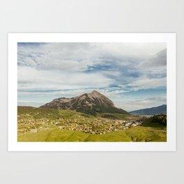 Tiny Mountain Town Art Print