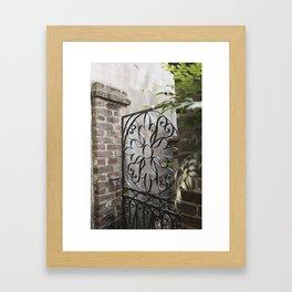 Charleston Back Garden Gate Framed Art Print