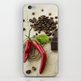 Rustic coffee beans kitchen image iPhone Skin