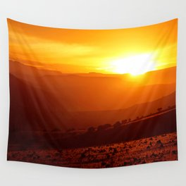 Golden African Morning Wall Tapestry