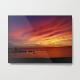 epic sunset in South Milton... Metal Print