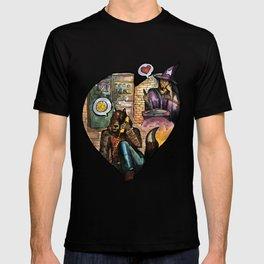 wizard and werewolf T-shirt