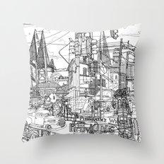 San Francisco! (B&W) Throw Pillow