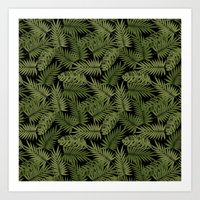 Frond of You - Black Art Print