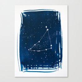 Capricorn Zodiac Print Canvas Print