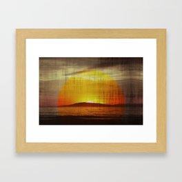Retro Santa Cruz Island California Sunset Framed Art Print