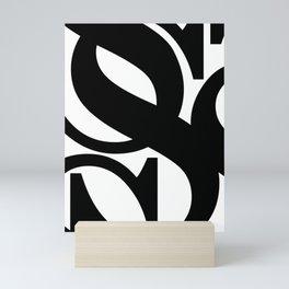 Hidden Letters. Baskerville S Mini Art Print
