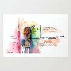 Where you stand is simply a matter of framing Art Print