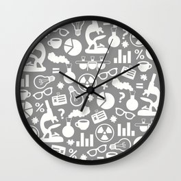 Grey Scientist Wall Clock