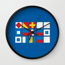 NAUTICAL FOR PETE'S SAKE Wall Clock