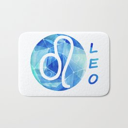 Leo. lion. Sign of the zodiac. Bath Mat