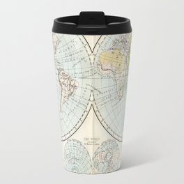 Old Map of The Globe Travel Mug