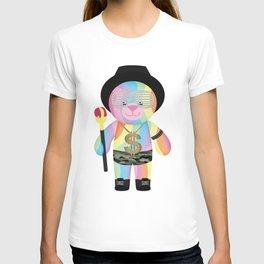 Royal Hippie Rainbow Bondage Bear Full T-shirt