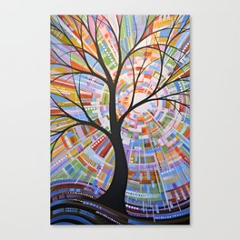 Abstract Art Landscape Original Painting ... Here Comes the Sun Canvas Print