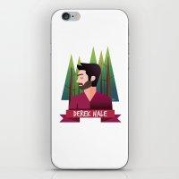 derek hale iPhone & iPod Skins featuring DEREK HALE - FORREST by UniversoAlternativo