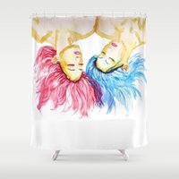 twins Shower Curtains featuring Twins by Siriusreno