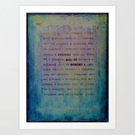 Forgive and Be Healed Art Print