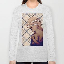 obscure deeno skull Long Sleeve T-shirt