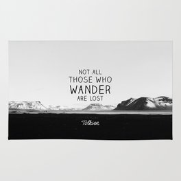 Not All Who Wander Are Lost... Rug