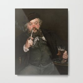 Édouard Manet - Happy Beer Drinker Metal Print