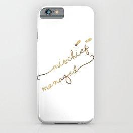 Mischief Managed (white) iPhone Case