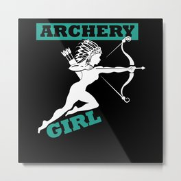 Archery Girl Metal Print