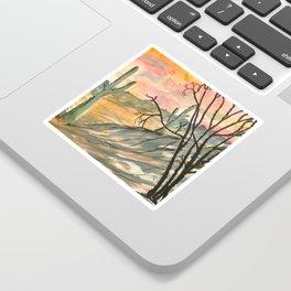 Southwestern Art Desert Painting Sticker