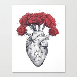Heart cactus Canvas Print