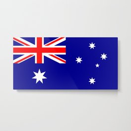 The Flag of Australia Metal Print