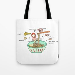 Anatomy of a Good Minced Meat Noodle Tote Bag