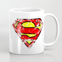 superman Mugs featuring Superman by sambeawesome