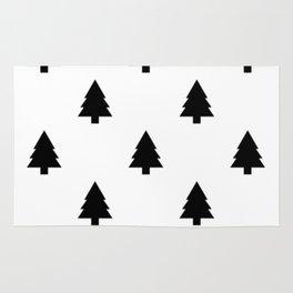 (Christmas) Tree B&W Rug