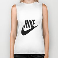nike Biker Tanks featuring NIKE by I Love Decor